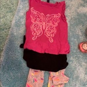 🌸BUY2GET1FREE🌸 Girls Butterfly Tee and Leggings